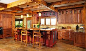 warm cozy and inviting rustic kitchen interiors