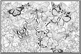 Great Printable Adult Coloring Pages Butterflies With Coloring