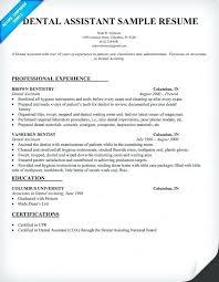Resume For Dental School Admission Objective Assistant