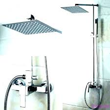 pulse shower head e shower system rain easy spas brushed nickel home depot pulse shower head pulse shower head