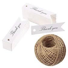 Thank You Gift Tags,<b>100PCS Kraft Paper</b> Tags with 100 Feet Jute...