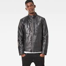 g star raw deline leather jacket