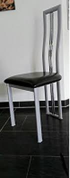 6 Stck Esszimmer Stühle Aus Metall Silber Gestell In