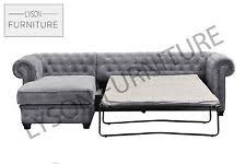 chesterfield sofa bed. Perfect Chesterfield Corner Sofa Bed CHESTERFIELD  IMPERIAL Brand New Fabric Grey Cream Brown In Chesterfield