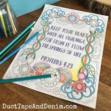 Discover our free coloring pages for kids. Free Scripture Coloring Pages Proverbs 4 23