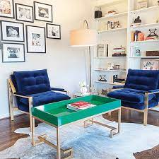 conrad navy lacquer tray coffee table