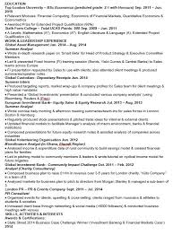 perfect cv - Investment Banking Resume