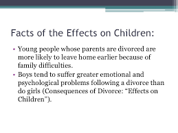 divorce power point 10 facts of the effects on children • young