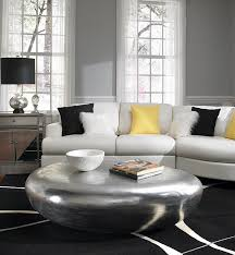 riverstone table in silver is the showstopper in this room design phillips collection
