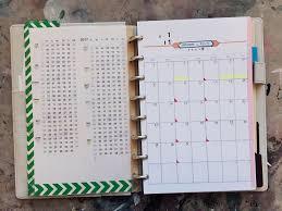 diy discbound planner templates compact calendar by dave seah davidseah com