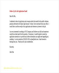 Unique Sample Follow Up Letter To A Job Application Free Cover Letter