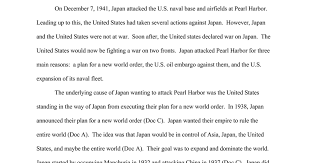 why did attack pearl harbor google docs