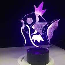 Pokemon Đi Mimikyu Ho Oh Purrloin Magikarp Raikou Rayquaza Prinplup  Politoed lugia Phim Hoạt Hình 3D Đèn 7 Màu LED Trang Trí Nội Thất ánh Sáng  ban đêm|LED Night Lights