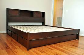 wooden under bed storage bed with drawers and shelves wooden under bed storage bed frames captains wooden under bed