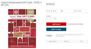 target visa enternment gift card