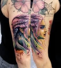 портфолио работ тату мастера каролины студия татуировки Playpain