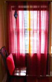 bright red sheer curtain panels curtains with sheers ...