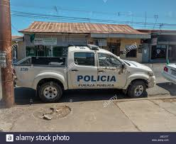 Ministry of Public Safety Police Pick Up Truck In Puntarenas Costa ...