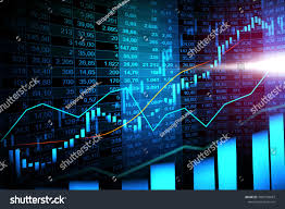 Stock Investment Chart Stock Market Or Forex Trading Graph With Candlestick Chart