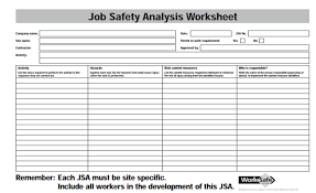 Job Analysis Template - Design Templates