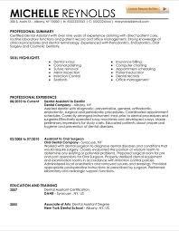 Dentist Resume Inspiration Dental Resume 28 Medmoryapp