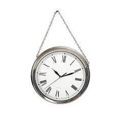 truu design silver wall clock