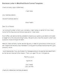 Block Form Business Letter Full Block Format Business Letter Modified Block Letter Format Style