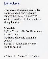 Kp - 09 - Knits & Pieces - Balaclava Teddy Mittens Hat Fingerless ...