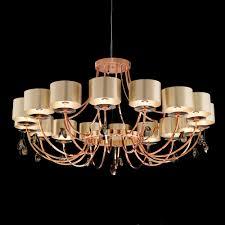 large modern bronze swarovski crystal chandelier