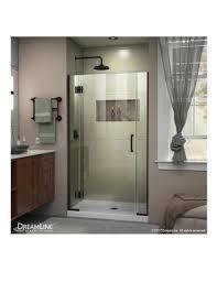 dreamline unidoor x 39 1 2 40 in w x 72 in h frameless hinged shower door in oil rubbed bronze