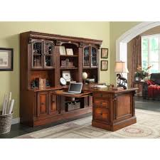 Parker House Huntington fice Peninsula Desk Wall Unit 8pc for
