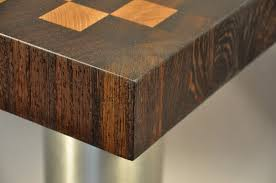 wenge and maple end grain wood countertop