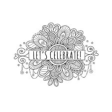 Celebrate Banner Lets Celebrate Banner With Doodles Vector By Gowen