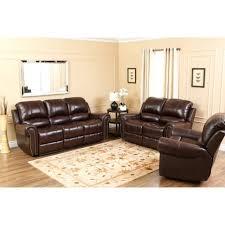 abbyson lexington dark burdy italian leather reclining loveseat and sofa set