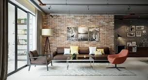 the brick living room furniture. Industrial Living Rooms With Eccentric Brick Walls The Room Furniture