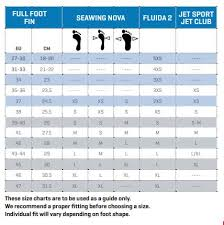 Scubapro Jet Sport Full Foot Fins Size Chart Scubapro Seawing Nova Full Foot