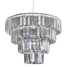 lucia 4 tier pendant light shade clear