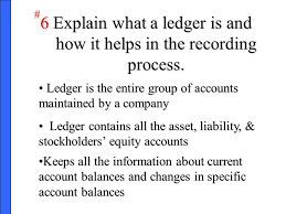 A Company S Ledger Is The Accounting Information System Ppt Video Online Download
