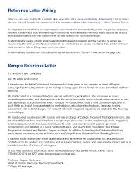 Letters Of Recommendations For Teachers Letter Of Recommendation Teacher Colleague Writing Reference For A