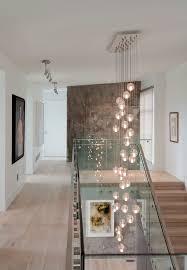 jonathan browning lighting. Jonathan Browning Lighting Hall Contemporary With Glass Stair Railing White Pendant Lights