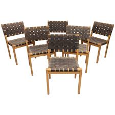 homefurnitureseatingdining room chairs set of six alvar aalto woven seat dining chairs