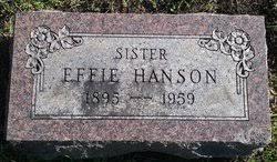 Effie Hanson (1895-1959) - Find A Grave Memorial