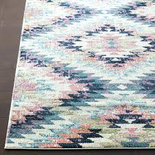 pink and green outdoor rug area