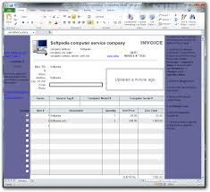 Computer Invoice Software Download Computer Service Invoice Template 1 10