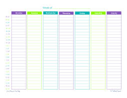 Printable Hourly Weekly Schedule Got A Busy Week Theres A Weekly Planner For That Scattered Squirrel