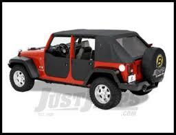 bestop black rear half doors for 2007 18 jeep wrangler jk 2 door unlimited 4 models