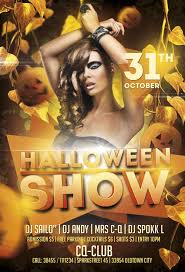 Halloween Party Poster Psd Free Halloween Show Party Flyer Template