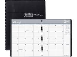 Callendar Planner House Of Doolittle 2620 02 Monthly Calendar Planner 2 Year Black 8 1 2 X 11 Inches