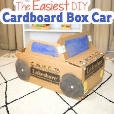 the easiest diy cardboard box car