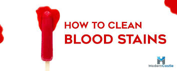 how to remove blood sns from clothes